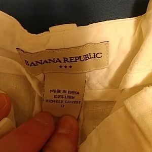 Banana Republic white linen pants sz 0
